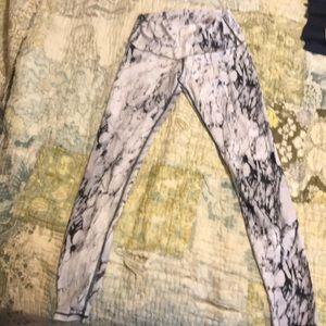 Pants - Marble print leggings